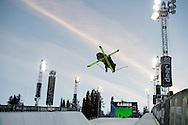 Alex Ferreira during Ski Superpipe Practice during 2015 X Games Aspen at Buttermilk Mountain in Aspen, CO. ©Brett Wilhelm/ESPN
