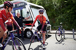 Lisa Klein (GER) makes her way to sign on at Stage 2 of 2019 OVO Women's Tour, a 62.5 km road race starting and finishing in the Kent Cyclopark in Gravesend, United Kingdom on June 11, 2019. Photo by Sean Robinson/velofocus.com