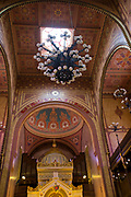 Interior of the Dohany Street Great Synagogue, Budapest, Hungary