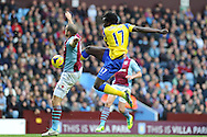 Everton's Romelu Lukaku goes close to scoring but puts the ball wide of goal.  Barclays Premier League, Aston Villa v Everton at Villa Park in Aston, Birmingham on Saturday 26th Oct 2013. pic by Andrew Orchard, Andrew Orchard sports photography,