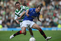 CIS Cup Final<br /> Celtic v Rangers<br /> Hampden Park<br /> Glasgow<br /> <br /> Aiden McGeady and Steven Whittaker<br /> 15/03/2009 Credit Colorsport / Ian MacNicol