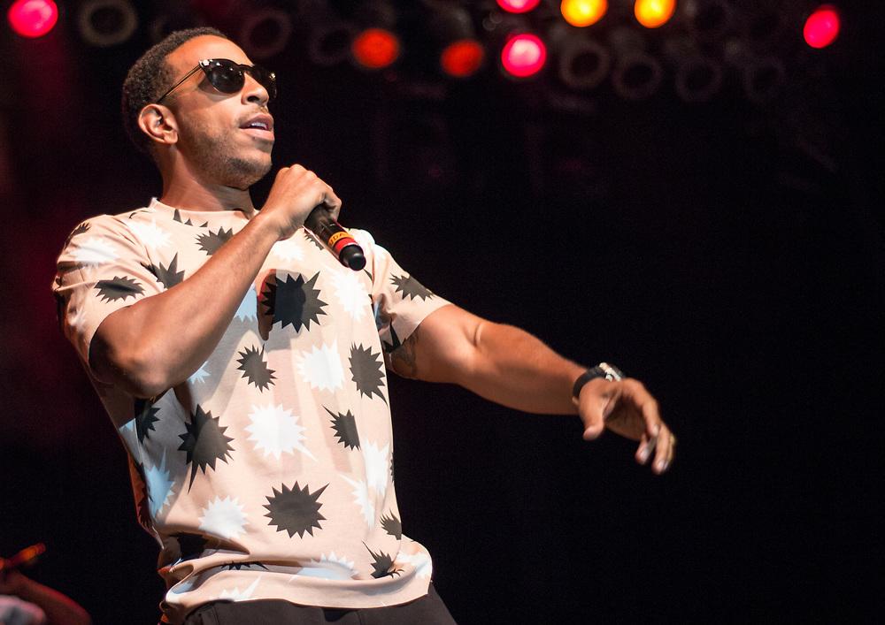 Ludacris performing at Summerfest in Milwaukee, WI on July 2, 2017.