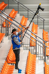 Photographer  in action during the supercup final between Amysoft Lycurgus - Active Living Orion on October 04, 2020 in Van der Knaaphal, Ede