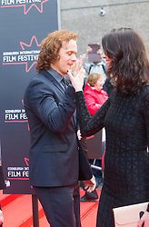 "Sam Heughan and Caitriona Balfe. Opening Night Gala and World Premiere of ""The Legend of Barney Thompson"", Edinburgh International Film Festival 17 - 28 June 2015."