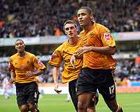 Photo: Rich Eaton.<br /> <br /> Wolverhampton Wanderers v Sheffield Wednesday. Coca Cola Championship. 28/10/2006. Leon Clarke #17 celebrates after scoring the first goal of the game for Wolves
