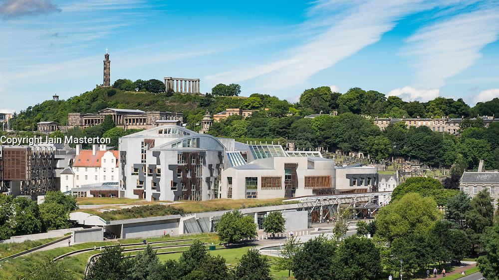 View of the  Scottish Parliament building in Edinburgh Scotland , United Kingdom