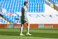 Cardiff City's Goalkeeper Dillon Phillips (1) gets ready for the start of the EFL Sky Bet Championship match between Cardiff City and Nottingham Forest at the Cardiff City Stadium, Cardiff, Wales on 2 April 2021.
