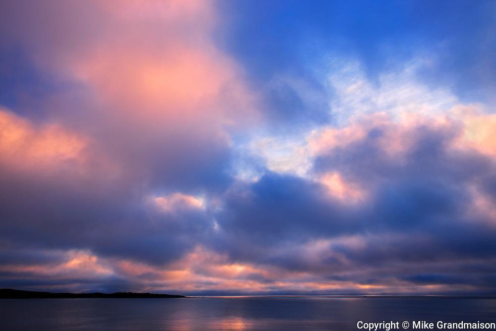 CLouds at sunrise on the Atlantic Ocean<br /> Channel-Port aux Basques<br /> Newfoundland & Labrador<br /> Canada