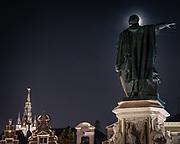 Statue of Jacob van Arteveld on the vrijdagsmarkt Ghent, Belgium, 30.10.2014
