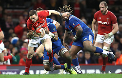 France's Mathieu Bastareaud (right) tackles Wales' George North (left) during the NatWest 6 Nations match at the Principality Stadium, Cardiff.