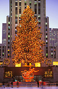 Christmas, Rockefeller Center, Manhattan, New York
