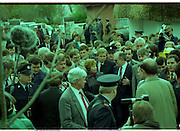 Raisa Gorbachev at Bunratty Folk Park.  (R99)..1989..02.04.1989..04.02.1989..2nd April 1989..While her husband, Russian President Mikhail Gorbachev,was working on state matters ,Mrs Gorbachev was taken on a tour of Bunratty Folk Park in Co Clare. The Gorbachevs were in Ireland as part of a tour of European Capitals...Image shows the media and security scrum as Mrs Gorbachev begins her tour of the Folk Park.