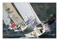 Sailing - The 2007 Bell Lawrie Scottish Series hosted by the Clyde Cruising Club, Tarbert, Loch Fyne..The final days racing had cold steady Northerly breeze to decide the overall placings..The RYA Volvo Keelboat Sailors aboard a Delphia Sport 24 Delphia Flyer GBR 2494R.