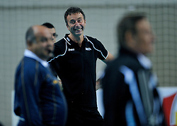 10-11-2011 VOLLEYBAL: PRE OKT NEDERLAND - ISRAEL: POREC<br /> Nederland wint vrij eenvoudig met 3-0 van Israel / Headcoach Bert Goedkoop, Headcoach Arie Selinger<br /> ©2011-FotoHoogendoorn.nl