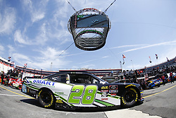 April 13, 2018 - Bristol, Tennessee, United States of America - April 13, 2018 - Bristol, Tennessee, USA: Tony Mrakovich (28) drives his car under Colossus TV during opening practice for the Fitzgerald Glider Kits 300 at Bristol Motor Speedway in Bristol, Tennessee. (Credit Image: © Chris Owens Asp Inc/ASP via ZUMA Wire)