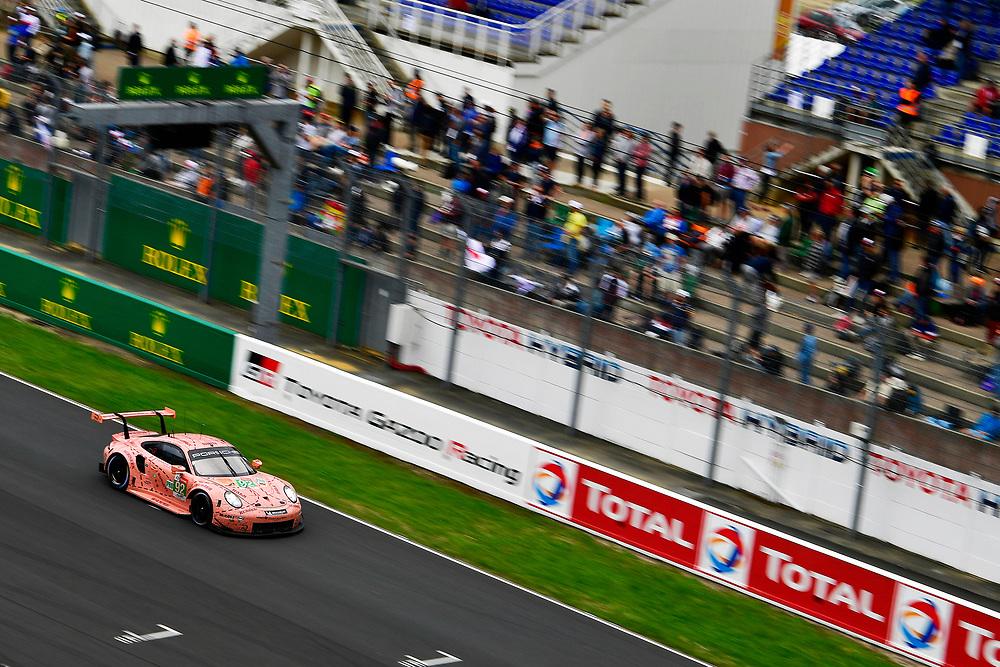 #92 Porsche GT Team Porsche 911 RSR: Michael Christensen, Kevin Estre, Laurens Vanthoor<br /> Sunday 17 June 2018<br /> 24 Hours of Le Mans<br /> 2018 24 Hours of Le Mans<br /> Circuit de la Sarthe  FR<br /> World Copyright: Scott R LePage