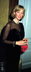 MRS ZARA PLUNKETT-ERNLE-ERLE-DRAX sister of Tiggy Legge-Bourke, at a dinner in London on 17th November 1999.MZE 16