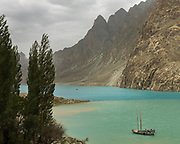 View over the Attabad lake, upper Hunza.