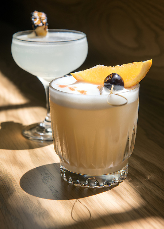 Photo by Mara Lavitt<br /> Westport, CT<br /> May 24, 2017<br /> Jesup Hall restaurant. Pineapple daiquiri, whiskey sour.