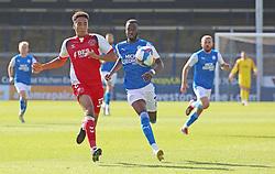 Mohamed Eisa of Peterborough United closes down James Hill of Fleetwood Town - Mandatory by-line: Joe Dent/JMP - 19/09/2020 - FOOTBALL - Weston Homes Stadium - Peterborough, England - Peterborough United v Fleetwood Town - Sky Bet League One
