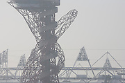 Structures of 2012 Olympic Park site showing The Orbit art tower and the main stadium at Stratford. The London Olympic Stadium will be the centrepiece of the 2012 Summer Olympics and Paralympics. The stadium has capacity for the Games of approximately 80,000 making it temporarily the third largest stadium in Britain. The ArcelorMittal Orbit Tower is the newest addition to the Olympic Park and provides an attraction to rival those visited the world over. The Orbit tower gives views over the Park and the rest of London, it also caters for events and conferences offering delegates and organisers alike a unique setting and location for their event.