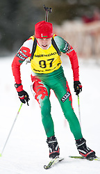 11.12.2010, Biathlonzentrum, Obertilliach, AUT, Biathlon Austriacup, Sprint Men, im Bild Aliaksandr Darozhka (BLR, #97). EXPA Pictures © 2010, PhotoCredit: EXPA/ J. Groder