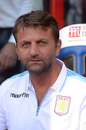Tim Sherwood, the Aston Villa manager looks on from the dugout before k/o. Barclays Premier league match, Crystal Palace v Aston Villa at Selhurst Park in London on Saturday 22nd August 2015.<br /> pic by John Patrick Fletcher, Andrew Orchard sports photography.