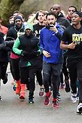 Nike 'Move with Hart' run event plaats in samenwerking met de comedian Kevin Hart in het Vondelpark in Amsterdam.<br /> <br /> Op de foto:  Kevin Hart en Nasrdin Dchar