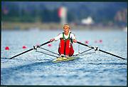 Sydney. AUSTRALIA, Women's, Olympic, Single Sculls Gold Medalist: Ekaterina [KHODOTOVICH] KARSTEN. 2000 Olympic Games - Olympic Regatta; Penrith, NSW. [Mandatory Credit: Peter Spurrier: Intersport Images] Sydney International Regatta Centre (SIRC) 2000 Olympic Rowing Regatta00085138.tif