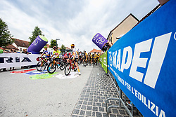 Jonas Iversby HVIDEBERG of UNO - X PRO CYCLING TEAM4 and Phil BAUHAUS of BAHRAIN VICTORIOUS and Mathijs PAASSCHENS of BINGOAL PAUWELS SAUCES during 2nd Stage of 27th Tour of Slovenia 2021 cycling race between Zalec and Celje (147 km), on June 10, 2021 in Zalec - Celje, Zalec - Celje, Slovenia. Photo by Vid Ponikvar / Sportida
