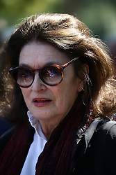 Anouk Aimee attending the funeral ceremony of French designer Sonia Rykiel at the Montparnasse cemetery in Paris, France on September 1, 2016. The 86 years old pioneer of Parisian womenswear from the late 1960's onwards, has died from a Parkinson's disease-related illness. Photo by ABACAPRESS.COM