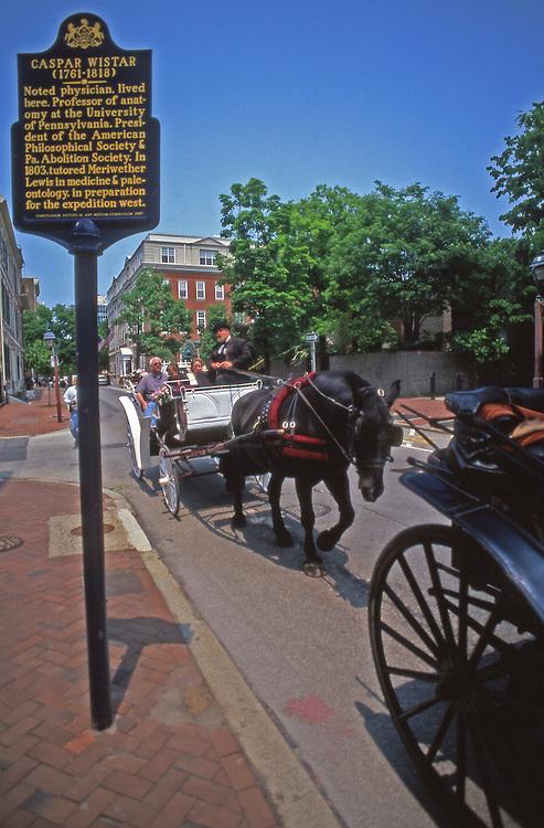 Philadelphia tours by horse drawn carriage, Society Hill, Philadelphia, PA
