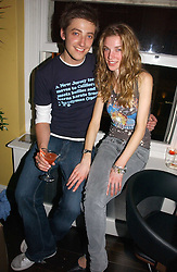 MARK EMMS and JESS WELLS at the launch party for the 'Second Floor at Kettner' 29 Romilly Street, London W1 on 4th May 2006.<br />