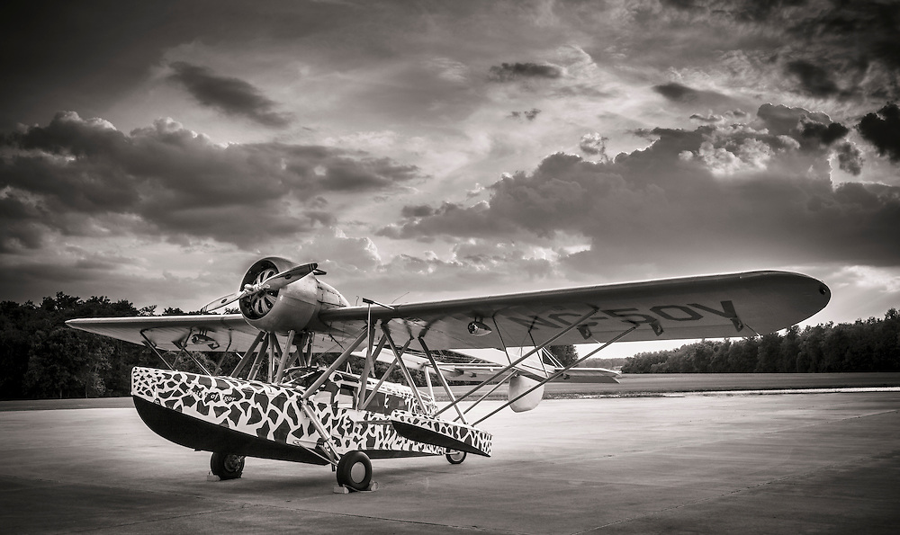 Sikorsky S-39.  The paint scheme pattern was modeled after a real giraffe.  Created at Kermit Week's Fantasy of Flight, in Polk City, Florida.  <br /> <br /> Created by aviation photographer John Slemp of Aerographs Aviation Photography. Clients include Goodyear Aviation Tires, Phillips 66 Aviation Fuels, Smithsonian Air & Space magazine, and The Lindbergh Foundation.  Specialising in high end commercial aviation photography and the supply of aviation stock photography for advertising, corporate, and editorial use.