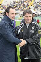 Firenze 05/03/2006<br /> Fiorentina-Siena<br /> Nella foto i due allenatori prandelli e de canio si salutano prima dell'inizio della partita<br /> Photo Luca Pagliaricci Graffiti