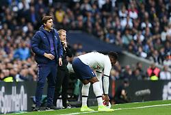 Tottenham Hotspur manager Mauricio Pochettino shouts out instructions - Mandatory by-line: Arron Gent/JMP - 19/10/2019 - FOOTBALL - Tottenham Hotspur Stadium - London, England - Tottenham Hotspur v Watford - Premier League