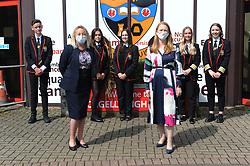 Lochgelly High School Exam results<br /> <br /> Lochgelly Head teacher Debbie Aitkin with Shirley-Anne Somerville and some of the students<br /> <br /> (c) David Wardle | Edinburgh Elite media