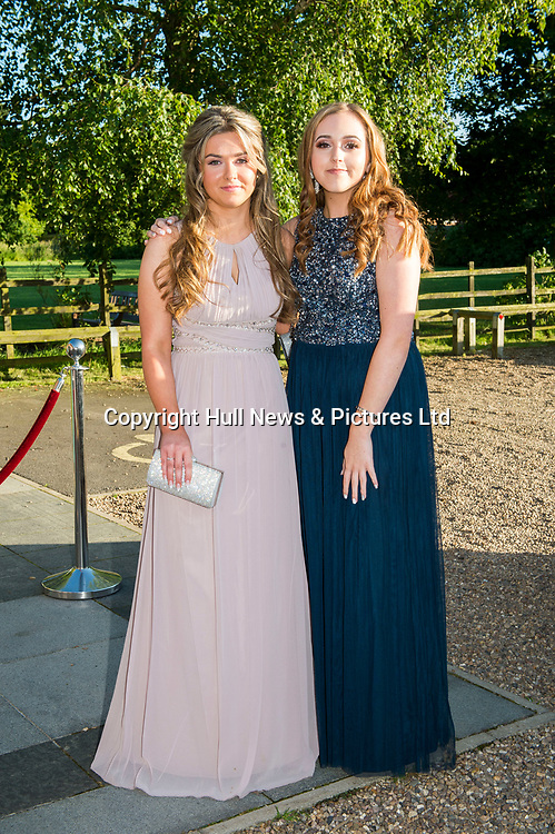 27 June 2019: Somercotes Academy Year 11 prom at the Brackenborough Hotel near Louth.<br /> (l-r) Isobel Meik (corr) Ellie Peplow.<br /> Picture: Sean Spencer/Hull News & Pictures Ltd<br /> 01482 210267/07976 433960<br /> www.hullnews.co.uk         sean@hullnews.co.uk