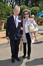 SIR RODDY & LADY LLEWELLYN at the 2011 RHS Chelsea Flower Show VIP & Press Day at the Royal Hospital Chelsea, London, on 23rd May 2011.