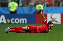 June 23, 2018 - Moscou, Rússia - MOSCOU, MO - 23.06.2018: BÉLGICA Y TÚNEZ - Anice BADRI of Tunisia during the match between Belgium and Tunisia valid for the 2018 World Cup held at the Otkrytie Arena (Spartak) in Moscow, Russia. (Credit Image: © Rodolfo Buhrer/Fotoarena via ZUMA Press)