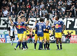 13.05.2010, UPC Arena, Graz, AUT, 1. FBL, SK Puntigamer Sturm Graz vs FC Red Bull Salzburg, im Bild Roman Wallner, 11, FC Red Bull Salzburg, Jubel, 2 zu 0, Franz Schiemer, 15, FC Red Bull Salzburg, Christoph Leitgeb, 24, FC Red Bull Salzburg, Rabiu Afolabi, 5, FC Red Bull Salzburg, Christian Schwegler, 6, FC Red Bull Salzburg, Simon Cziommer, 19, FC Red Bull Salzburg, EXPA Pictures © 2010, PhotoCredit: EXPA/ S. Zangrando / SPORTIDA PHOTO AGENCY
