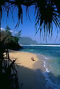 Hideaway Beach, Hanalei, Kauai, Hawaii, USA<br />