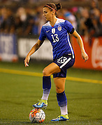 CHATTANOOGA, TN - AUGUST 19:  Forward Alex Morgan #13 of the United States dribbles with the ball during the friendly match against Costa Rica at Finley Stadium on August 19, 2015 in Chattanooga, Tennessee.  (Photo by Mike Zarrilli/Getty Images) *** Local Caption *** Alex Morgan