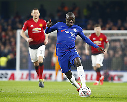 February 18, 2019 - London, United Kingdom - Chelsea's N'Golo Kante.during FA Cup Fifth Round between Chelsea and Manchester United at Stanford Bridge stadium , London, England on 18 Feb 2019. (Credit Image: © Action Foto Sport/NurPhoto via ZUMA Press)