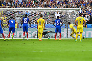 SAINT-DENIS, FRANCE, 10.06.2016 - FRANCE-ROMANIA - Bogdan Stancu from Romania snake penalty against France in a match valid for the 1st round of Group A of Euro 2016 in the Stade de France in Saint-Denis, on Friday (10).