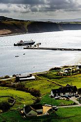 "Calmac ferry ""Hebrides"" docking at Uig, Isle of Skye, Scotland<br /> <br /> (c) Andrew Wilson | Edinburgh Elite media"