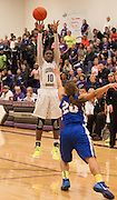 Cedar Ridge's Lashann Higgs attempts a shot in the second half against Pflugerville Friday at Cedar Ridge.  The Raiders lost to Pflugerville 70-66.  (LOURDES M SHOAF for Round Rock Leader.)