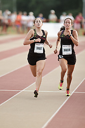Falmouth Road Race: The Cochary High School Mile, Girls, Sands, Martin sprint for finish line