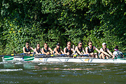 Henley on Thames, England, United Kingdom, 3rd July 2019, Henley Royal Regatta  Thames Challenge Cup, City of Bristol RC,Temple Island on Henley Reach, [© Peter SPURRIER/Intersport Image]<br /> <br /> 09:29:55 1919 - 2019, Royal Henley Peace Regatta Centenary,