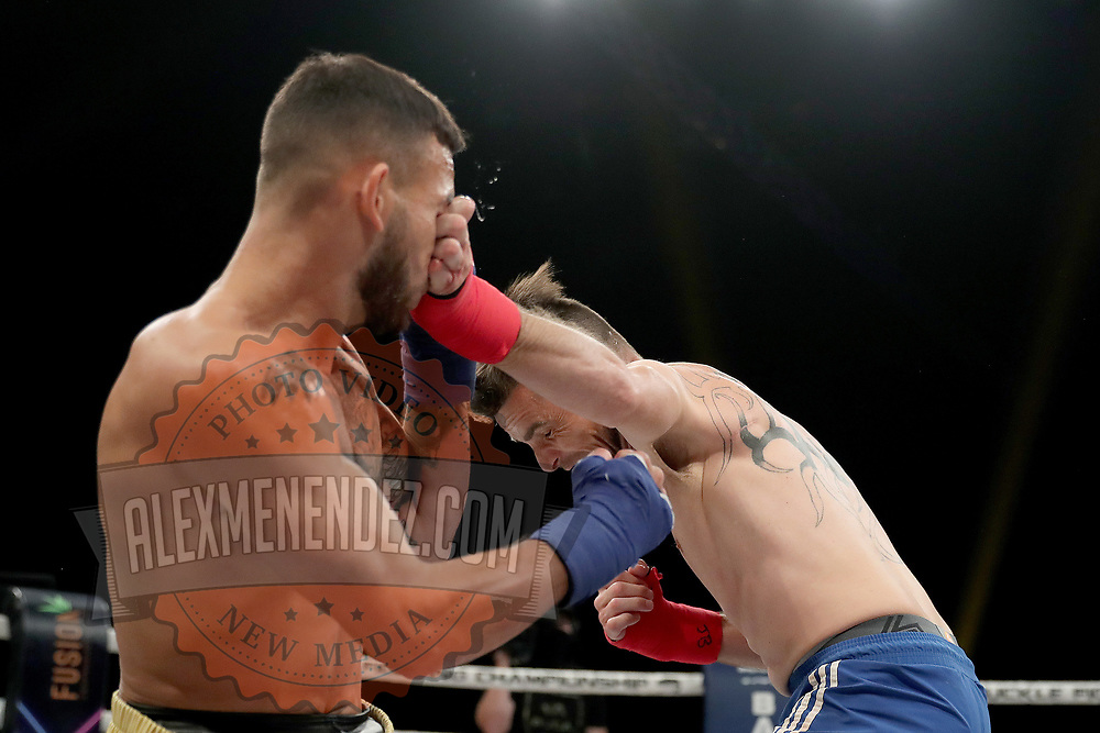 DAYTONA BEACH, FL - SEPTEMBER 11: Jarod Grant gets  punched in the eye by Joshua Boudreaux during the Bare Knuckle Fighting Championships at the Ocean Center on September 11, 2020 in Daytona Beach, Florida. (Photo by Alex Menendez/Getty Images) *** Local Caption *** Jarod Grant; Joshua Boudreaux
